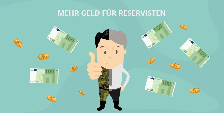 Finanzielle Verbesserungen für Reservisten