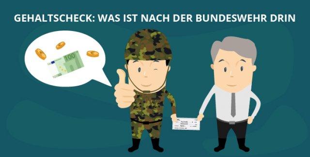 Gehaltscheck: Was ist nach der Bundeswehr drin