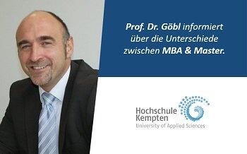 MBA oder Master