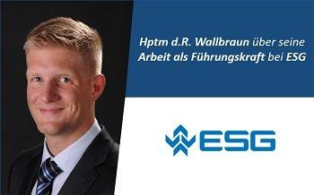 Nach der Bundeswehr Karriere bei ESG gestartet!
